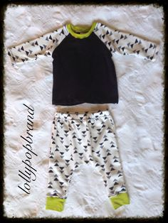 Modern Baby/Toddler Boy White And Black Triangle by lollypopbrand