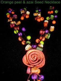 orange peel & tagua beads