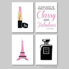 French Chanel Print Quad Nursery. Kid. by RhondavousDesigns2, $35.00