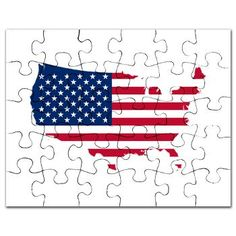 Flag Map of the USA Puzzle