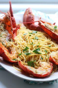 ~Lobster Spaghetti Santorini Style~