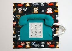 Quiet Book Sew-Along - Telephone Pages - Step 12