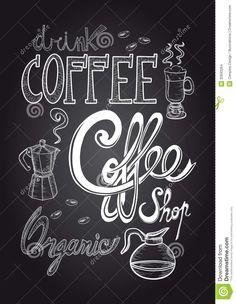 coffee-chalkboard-illustration-vintage-elements-hand-draw-style-poster-vector-layered-easy-manipulation-custom-32693264.jpg (1009×1300)