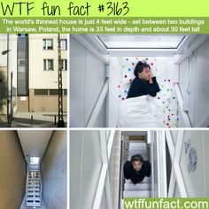 The world's thinnest house - WTF fun facts