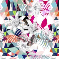 KALIMO   Estampa Digital - Alto Verão 2015 #floral #geometric #pattern