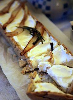 Ziegenfrischkäse Tarte mit Radicchio - goat cheese tarte with radicchio