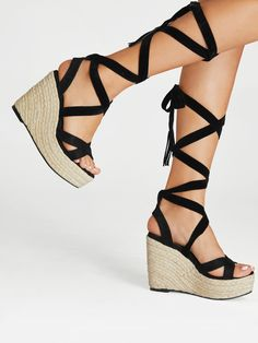 341bc0c30a48 Criss Cross Lace Up Espadrille Wedges