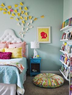 Colorful Wall Of Books