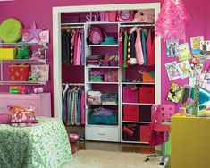 Small Kids Bedroom Ideas Design, Pictures, Remodel, Decor and Ideas - page 22...Lydia's room closet