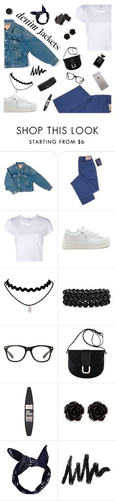 """""""Sem título #352"""" by connectiondani ❤ liked on Polyvore featuring Balenciaga, RE/DONE, Bling Jewelry, A.P.C., Maybelline, Erica Lyons, Terre Mère, Boohoo, Bobbi Brown Cosmetics and contestentry"""
