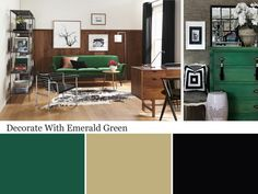 The color experts at HGTV.com share tips and images for decorating with emerald green.