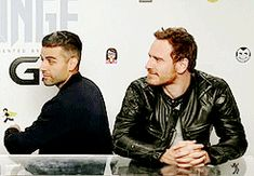 "Oscar Isaac + Michael Fassbender: I need to see ""X-Men: Apocalypse"" ASAP."