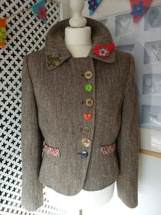Customised Embellished Per Una Tweed Jacket