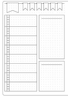 This could be for meal planning or meal planning in a bullet journal--Simple Weekly Layout & Template - Kate Louise Bullet Journal Layout Templates, Bullet Journal Weekly Layout, Bullet Journal 2019, Bullet Journal Printables, Bullet Journal Spread, Bullet Journal Ideas Pages, Bullet Journal Inspiration, Bullet Journals, Planner Template