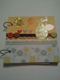 Neutral Color Pregnancy Memory Book for Mom's to be with Pocket Storage on the Inside!