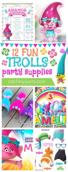12 Amazing Trolls Party Supplies | CatchMyparty.com