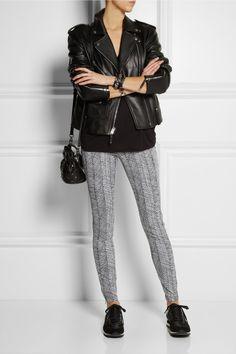 KENZO|Pantalon skinny en jacquard de coton mélangé|NET-A-PORTER.COM