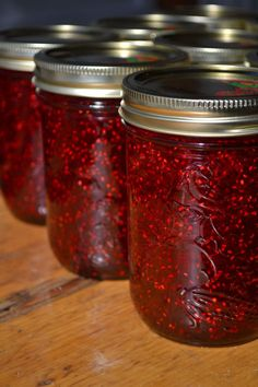 RASPBERRY JAM....Words can't express what this means to me. Wild volunteer raspberries in the garden; ohh... what to do with them!?