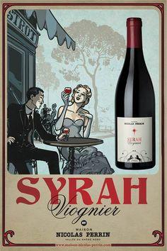 Nicolas Perrin Syrah Viognier wine poster