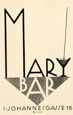 1931 Mary Bar in Vienna Ad illustrated by Willrab