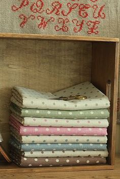 zakka japanese Linen and Cotton mix POLKA DOT fabric Bundle