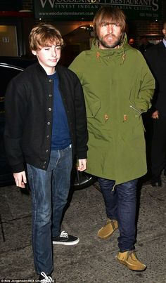 The apple doesn't fall far from the tree! The Mancunian was on typical sartorial form at the Covent Garden event, which saw him wear his trademark military jacket
