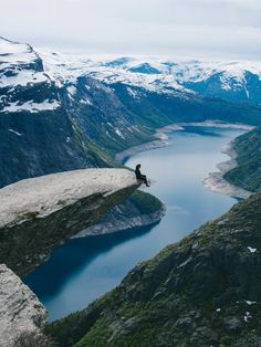 It's easy to see why Trolltunga, Norway is among one of the top 10 Pinned places on Pinterest for 2016. Absolutely stunning!