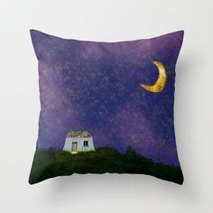 Huisje Throw Pillow by Zoï-Zoï - $20.00