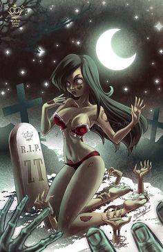 .: Zombie Tramp :. Pinup by Mako-Fufu