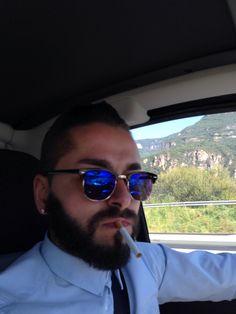 beard clubmaster