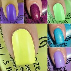 China Glaze Lite Brites (Part) Collection - Swatches & Review