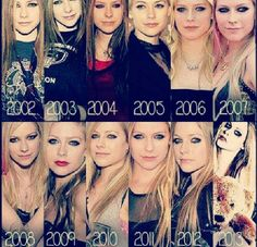 Avril Lavigne-Over The Years