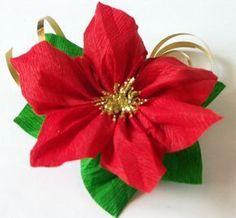 Ecco un progetto semplice adatto per questo periodo natalizio, da fare magari assieme ai bambini. Occorrente: carta crespa leggera rossa ...