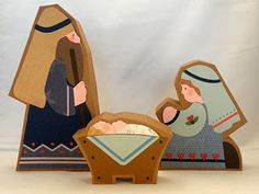 Needles 'n' Knowledge: Nativity 3D Box Tutorials: Baby Jesus, Mary, Joseph