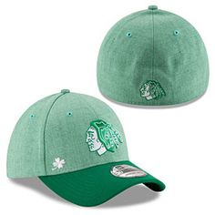 3394f1d1f18 Get this Chicago Blackhawks St. Patrick s Day Change Up 3930 Flex Fit Cap  at WrigleyvilleSports