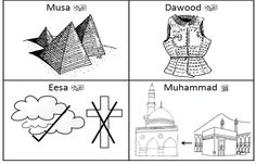 Colouring activity about 8 main Prophets [upon them be peace]. Note: Dawood alayhissalaam& link is with armour because he defeated Jaa. Islamic Books For Kids, Islam For Kids, Learning Arabic, Kids Learning, Color Activities, Activities For Kids, Prophets In Islam, Arabic Phrases, Islamic Teachings