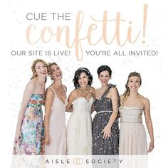 Have you heard the news? It's time to toss the confetti because @AisleSociety is officially open and I want to personally invite YOU to check it out!! Visit AisleSociety.com to create your account and start gathering inspiration for your wedding!  Get all the best wedding inspiration under one roof and tailor your feed to what's most inspiring to you! It's seriously amazing!  by budgetsavvybride