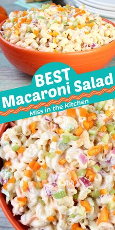 The Best Macaroni Salad is a staple for every cookout, holiday dinner or special occasion at our house. We love this macaroni salad with a sweet dressing that goes with just about every meal. Best Macaroni Salad, Macaroni Recipes, Backyard Cookout, Southern Dishes, Grilled Chicken Salad, Holiday Dinner, Spring Recipes, Vegetable Salad, Summer Parties