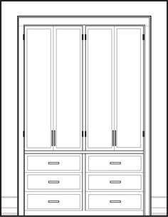 ok so this is not a floor plan, but it is a schematic drawing of a great idea! I hate those boring sliding mirrored doors developers supply for 'closets' instead have some custom cabinetry made to replace them!