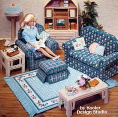 Plastic Canvas Fashion Doll Garden Furniture Craft Pattern Annies
