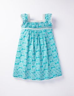I've spotted this @BodenClothing Summer Floaty Ruffle Dress Azure Doily. Bought it for A