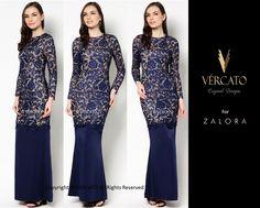 VERCATO (LIZ LACE KURUNG NAVY BLUE): www.vercato.com