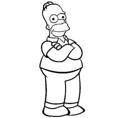 Coloriage homer simpson a imprimer dessin colorier et - Bart simpson coloriage ...