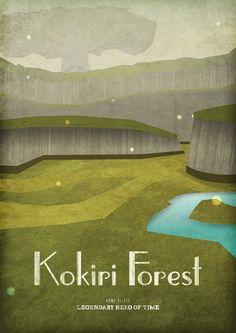 Kokiri forest #Zelda #Poster