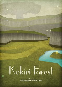 Kokiri Forest - Part of Hyrulean Travel Poster Collection by Dean Walton