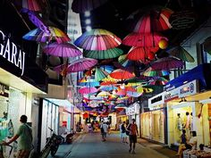 Sweet summer memories from street with umbrellas in #Fethiye #Turkey