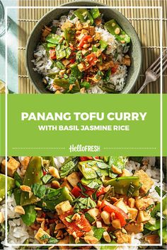 Fresh and light meet peanutty heaven in this tofu miracle! This dish brings all the yummy flavour of Thai take-out to your table in less time than delivery! Weeknight Recipes, Easy Weeknight Dinners, Family Recipes, Family Meals, Tofu Curry, Hello Fresh Recipes, Thai Dishes, Balanced Meals, Yum Yum