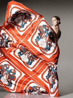 Smartologie: Iselin Steiro for Hermès Scarves Catalogue Spring 2014