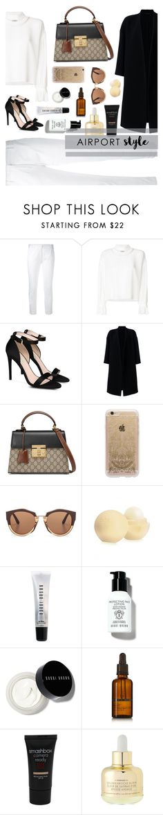 """""""Airport style - contest entry"""" by roses-are-beauty ❤ liked on Polyvore featuring Eleventy, Fendi, STELLA McCARTNEY, Ter Et Bantine, Gucci, Rifle Paper Co, Marni, Eos, Bobbi Brown Cosmetics and Dr. Jackson's"""