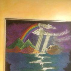 Chalkboard art by Four Winds 3rd Grade teacher, Brenna McLachlan. — at Four Winds Waldorf School.